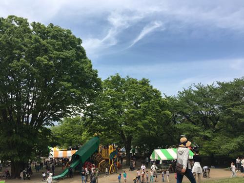 華蔵寺公園遊園地 GWは青空の下でピクニック+ツブツブ ポケモンGO