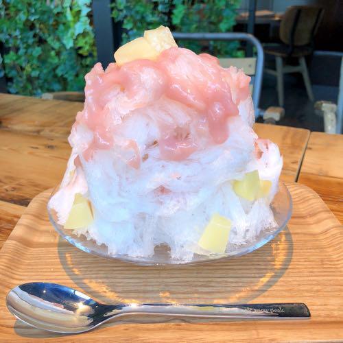 雪くま 桃ミルクとレモンカルピスミルク  2018年 おふろcafe bivouac
