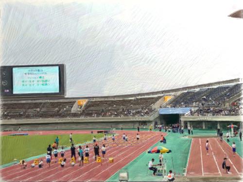 陸上フェスティバル 一致団結の長縄跳び6/100
